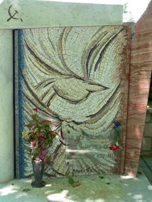 le mémorial FTP MOI au cimetière du Père Lachaise